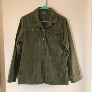 Duluth Trading Co Green Military Button Jacket